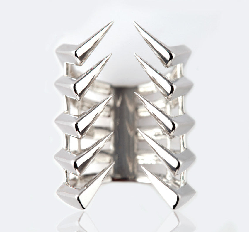 AXIOM LINEAR.10 SILVER MIDI RING