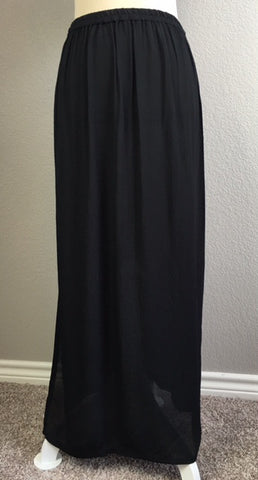Fluid Crepe Maxi Skirt