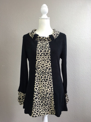 Leopard Print and Black Tunic