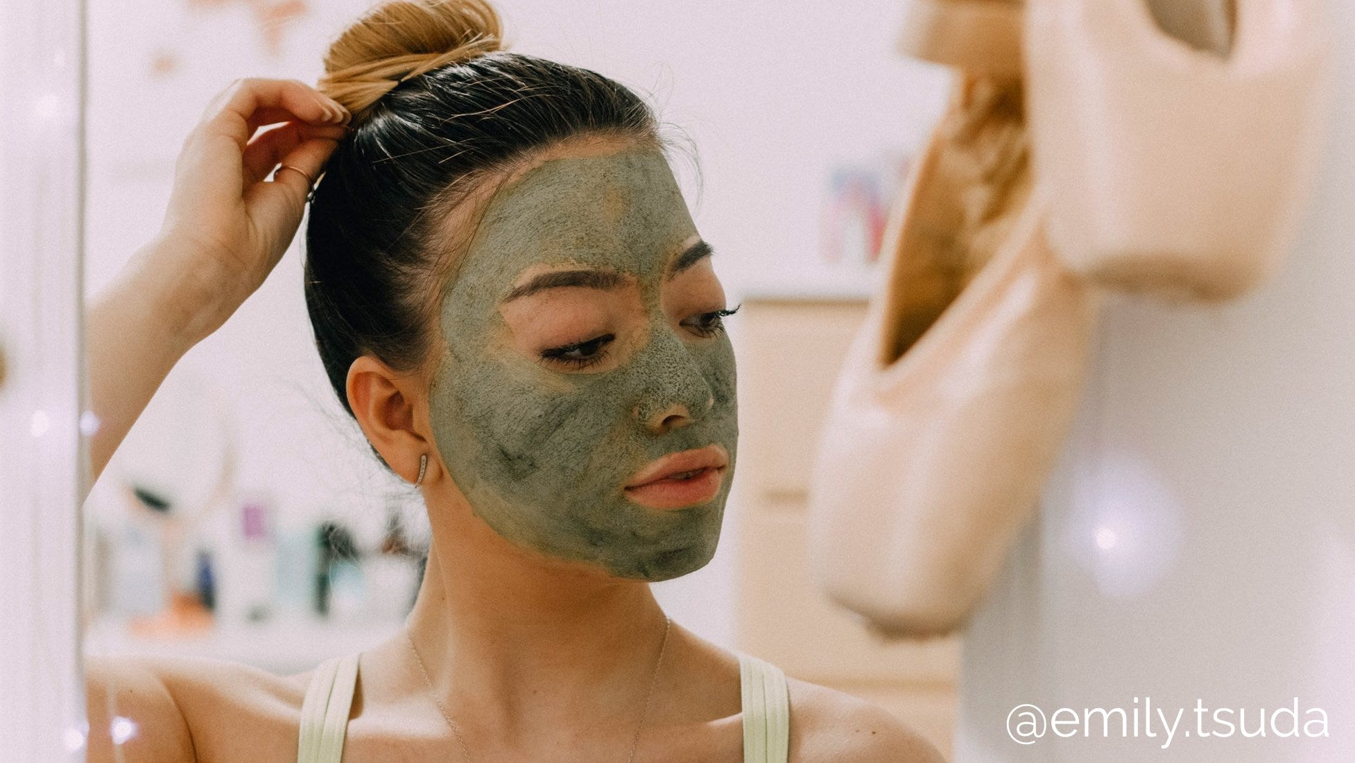 skincare soothing mask spa night