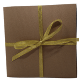 TruSelf Organics Lucky You Holiday Gift Box with gold ribbon