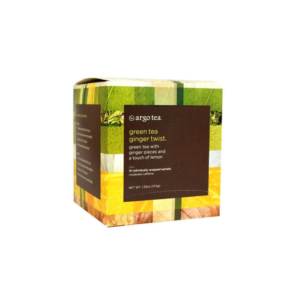Green Tea Ginger Twist Tea Sachets/Bags
