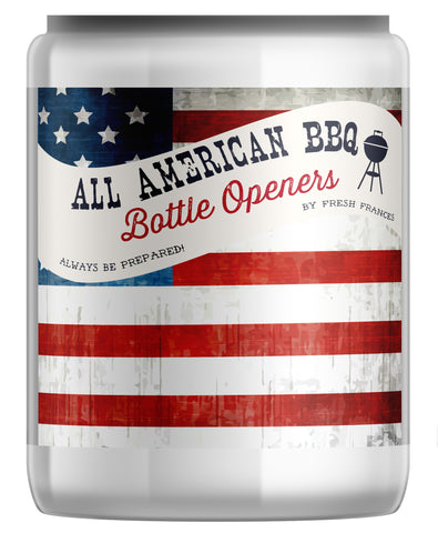 All American BBQ Bottle Openers Jar