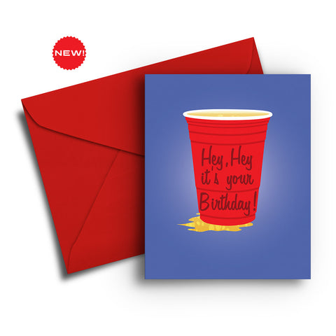 Solo Cup Birthday Card