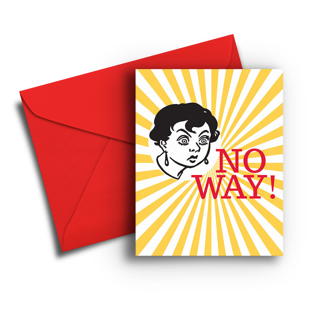 No Way Congratulations Card
