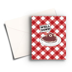 Well Done Steak Congratulations Card
