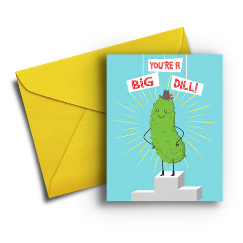 Big Dill Congratulations Card
