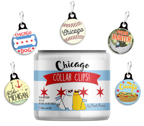 Chicago Collar Clips Jar