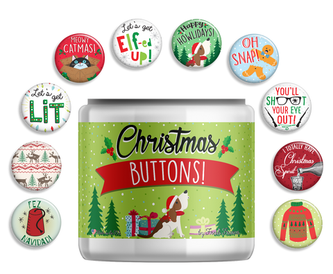 Christmas Button Jar