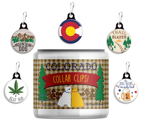 Colorado Collar Clips Jar