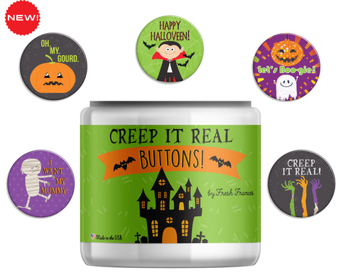 Creep It Real Button Jar
