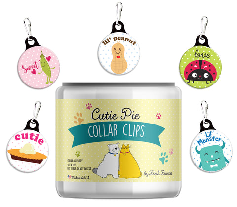 Cutie Pie Collar Clips Jar