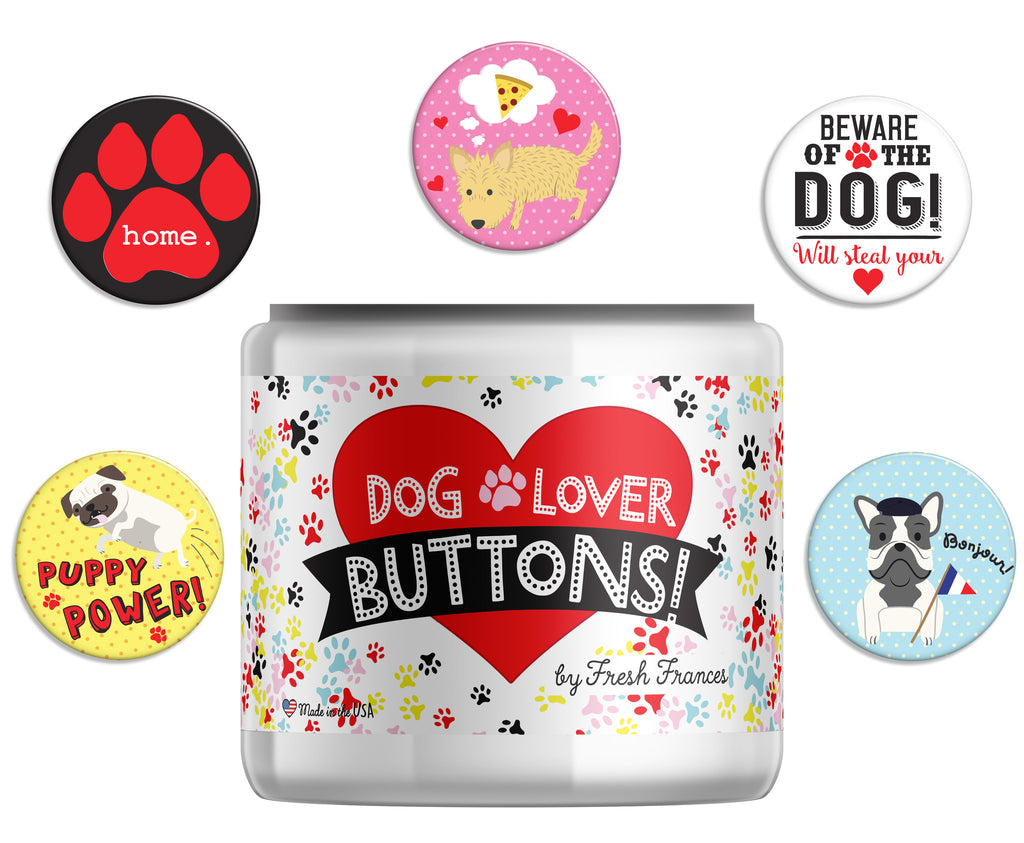 Dog Lovers Button Jar