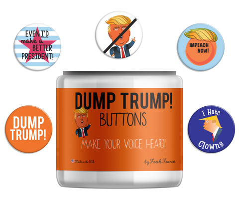 Dump Trump! Button Jar