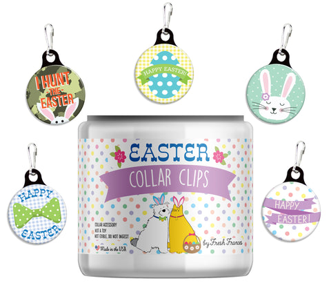 Easter Collar Clips Jar