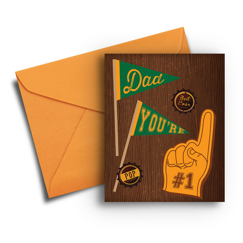 Foam Finger Father's Day Card