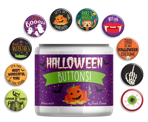 Halloween Button Jar