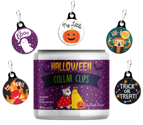 Halloween Collar Clips Jar