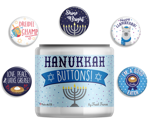 Hanukkah Button Jar