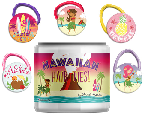 Hawaiian Hair Ties Jar