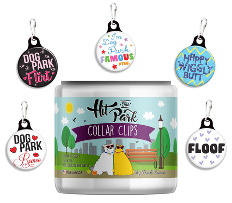 Hit The Park! Collar Clips Jar