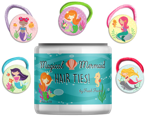 Magical Mermaids Hair Ties Jar