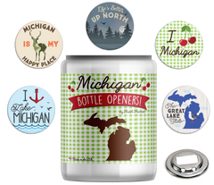 Michigan Bottle Openers Jar