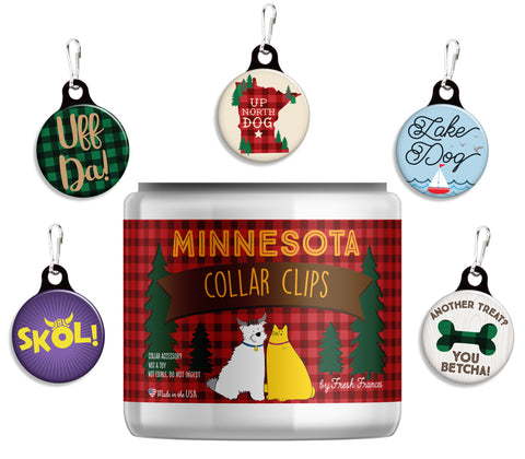 Minnesota Collar Clips Jar