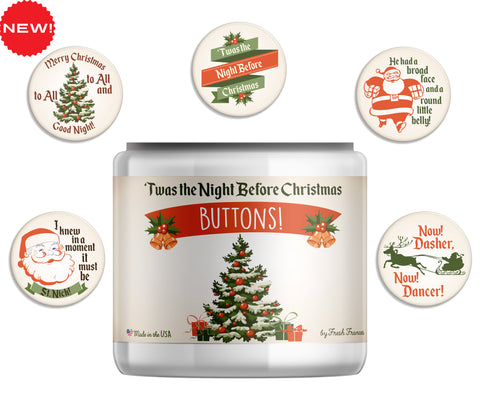 'Twas the Night Before Christmas Button Jar