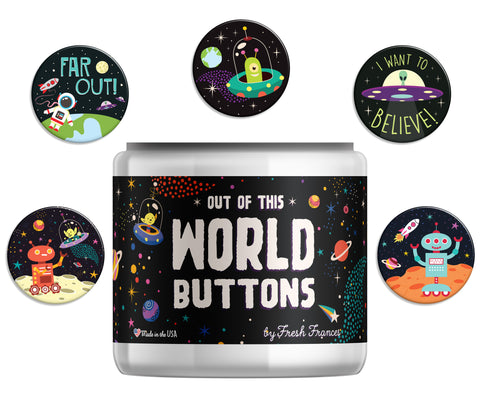 Out of This World Button Jar
