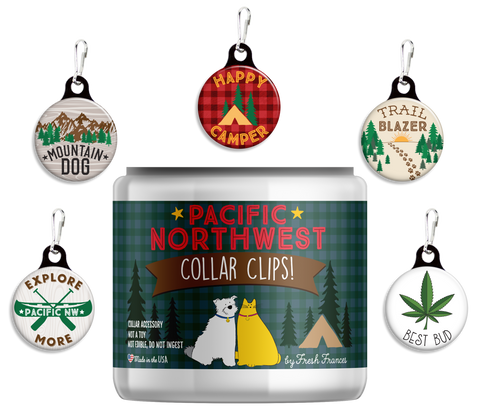 Pacific Northwest Collar Clips Jar