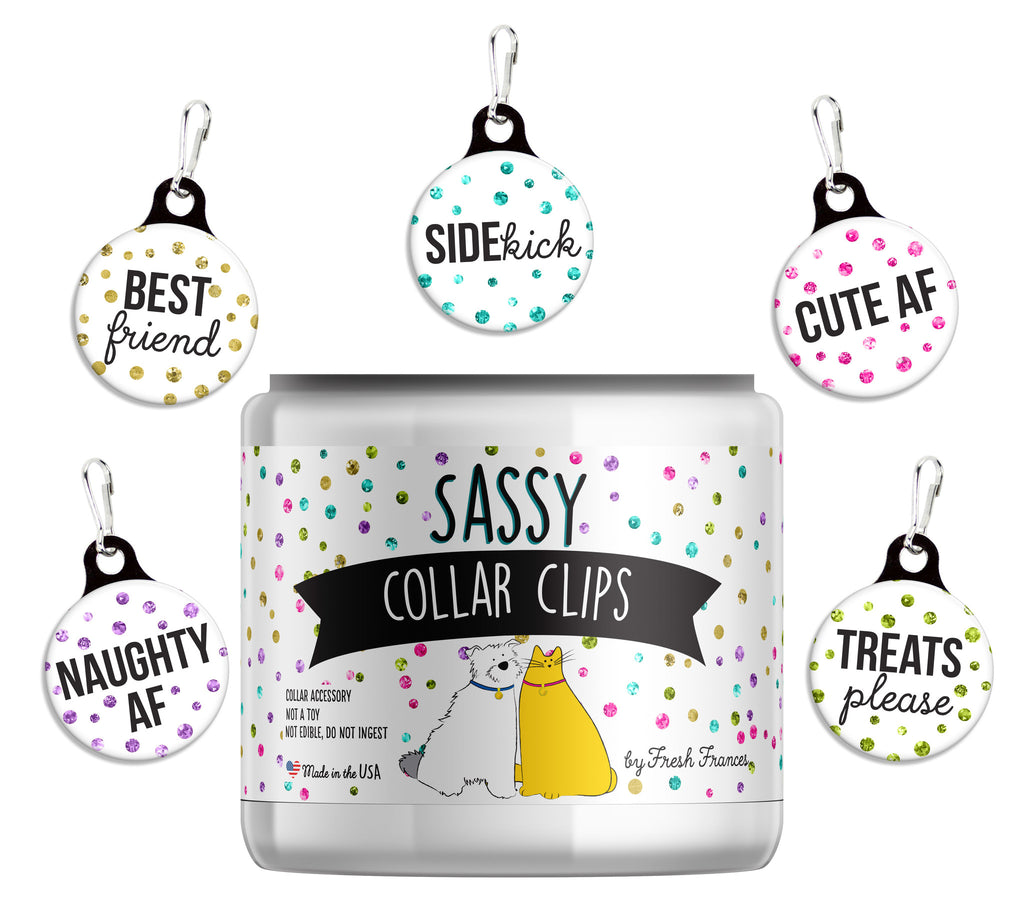 Glitter Sassy Collar Charms Jar