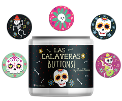 Sugar Skull Button Jar