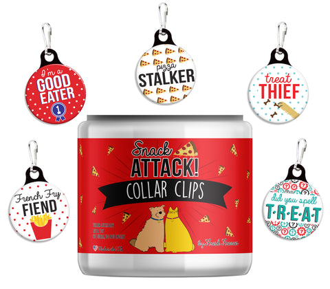 Snack Attack! Collar Clips Jar
