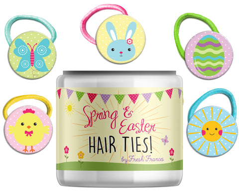 Easter & Spring Hair Ties Jar
