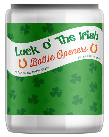 St. Patrick's Day Bottle Openers Jar