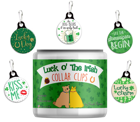 St. Patrick's Day Collar Clips Jar