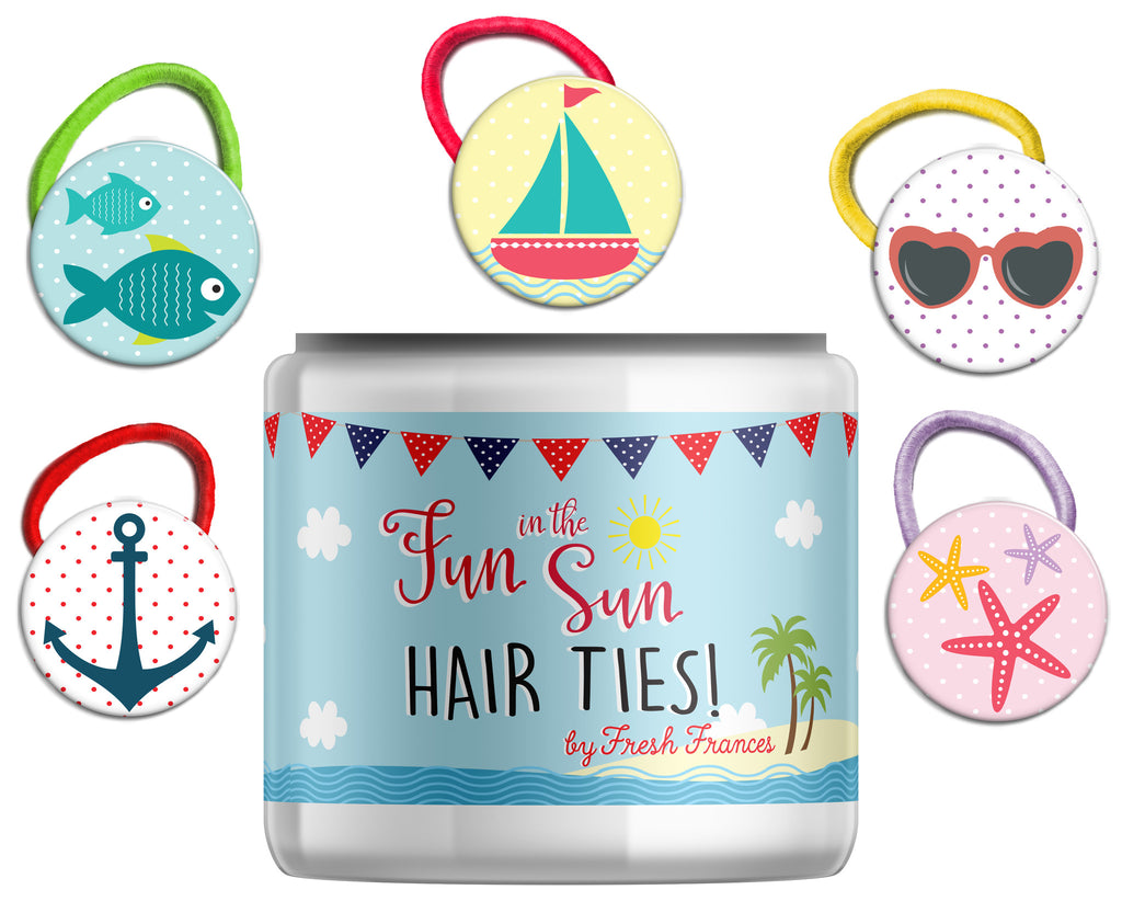 Summer Hair Ties Jar