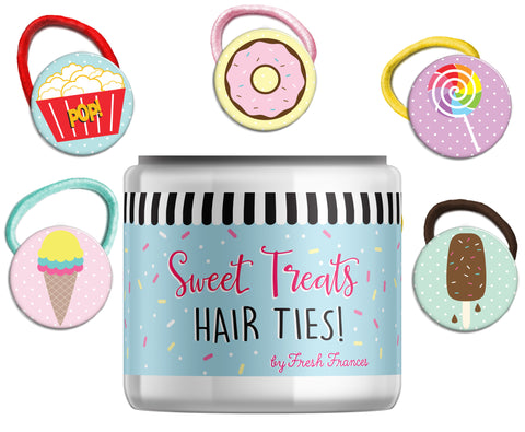 Sweet Treats Hair Ties Jar