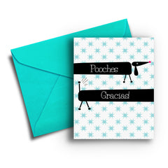 Pooches Gracias Thank You Card