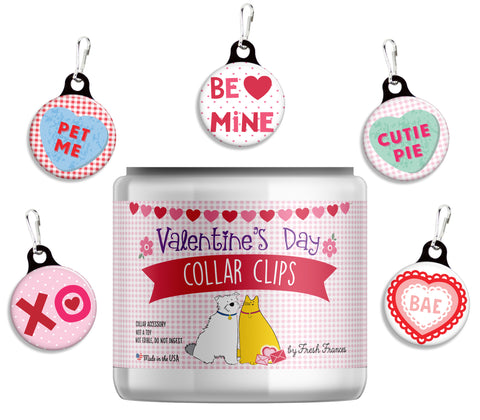 Valentine Collar Clips Jar
