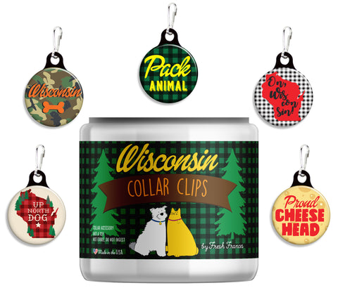 Wisconsin Collar Clips Jar