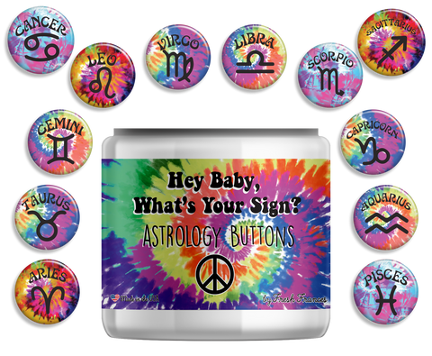 Astrology Button Jar