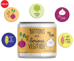 Serious Vegitude Button Jar