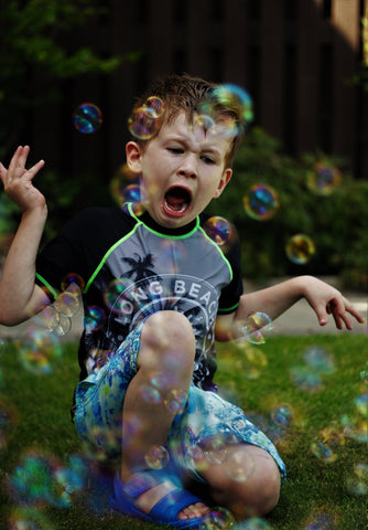 sensory bubbles special kids play activities