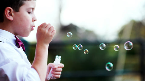 Bubbles, Special Kids, Playing, Fun, Summer,