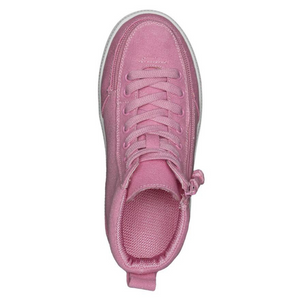 Billy Footwear (Kids) WDR Fit - High Top Pink Jersey Shoes