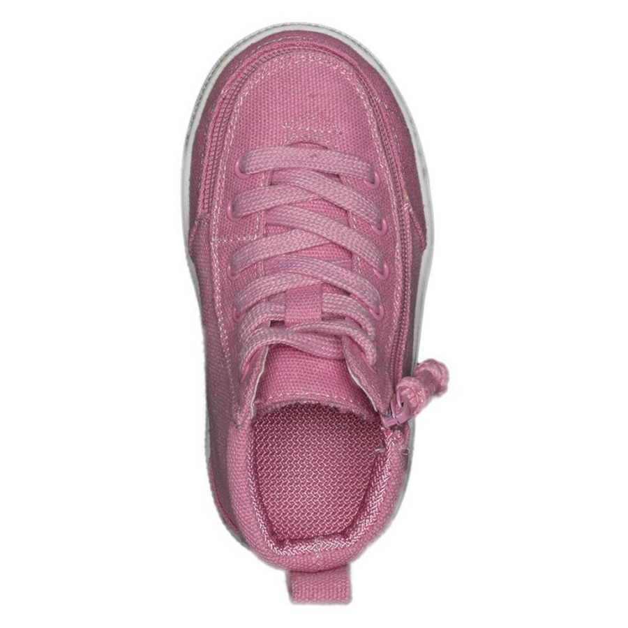 Billy Footwear (Toddlers) WDR Fit - High Top Pink Jersey Shoes