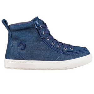 Billy_Footwear_Kids_High_Top_Blue_Denim_Glitter_colour_Canvas_Shoes_special_needs_shoes_side