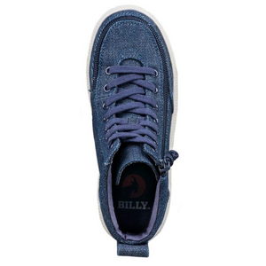 Billy_Footwear_Kids_High_Top_Blue_Denim_Glitter_colour_Canvas_Shoes_special_needs_shoes_top